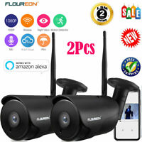 2x YI 1080P Wireless WIFI Outdoor Home Security IP Camera Night Vision w/ Alexa