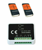 Kit ricevente ricevitore per cancelli automatici con 2 telecomandi rolling code