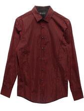 INC $70 NEW 3529 Metallic Tinsel Striped Slim Fit Shirt Mens Top L