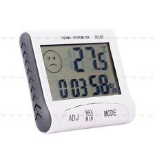 LCD Digital termómetro higrómetro Temperatura Humedad Medidor Reloj magnético ne