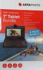 "4 Piece Accessory Bundle for 7"" Tablet Keyboard Case Stylus"
