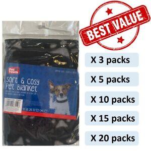 Value Bundle Pack of  Pet Dog Cat Puppy Fleece Blankets Pet Car Blanket 70x73cm