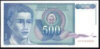 1990 YUGOSLAVIA 500 DINARA BANKNOTE * UNC * P-106 *