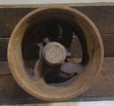 "Vintage cast iron belt pulley 7 1/2"" wheel Ford motor co farm equipment gear"