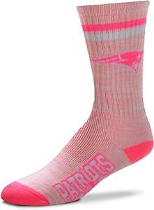 New England Patriots Football Pretty in Pink Ladies Deuce Crew Socks