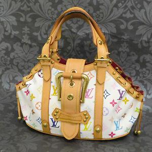 LOUIS VUITTON MONOGRAM Multicolor Theda PM White Handbag #1 Rise-on