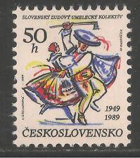 Czechoslovakia #2752 (A991) VF MNH - 1989 50h Slovak Folk Art Collective