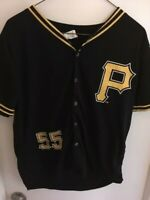 PITTSBURGH PIRATES JOSH BELL JERSEY #55 - BLACK - YOUTH XL - SGA