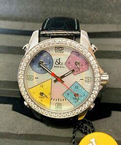 Jacob & Co Five Time Zone 40mm Diamond Bezel SERVICED