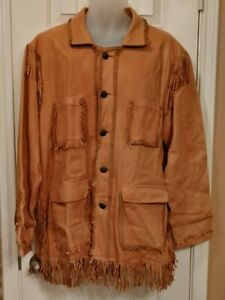 VINTAGE SCULLY SOFT LEATHER FRINGED JACKET, WESTERN STYLE , EAGLE BUTTONS