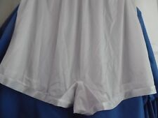 3 NYLON  PANTIES WHITE ONLY BRIEF BLOOMERS COTTON CROTCH PLUS SIZE 15