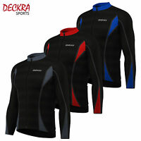 Mens Cycling Jersey Full Sleeves Cold Wear Thermal Fleece Bike Top Cycling Shirt