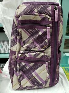 Thirty-One Sling backpack in purple plaid