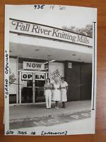 Vintage Glossy Press Photo Natick MA Fall River Knitting Mills Opening 6/16/80s