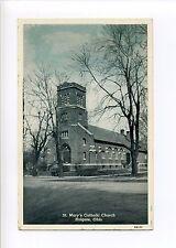 Holgate OH Ohio Henry County, St Mary's Catholic Church, vintage postcard