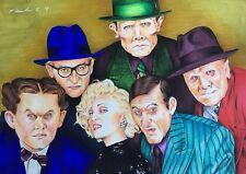 Dick Tracy  Original Pencil/ pen Drawing . Fan-art A4 . Madonna Al Pacino