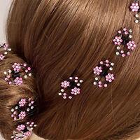 6Pcs Girls Crystal Snowflake Hair Clips Hairpins Headwear Rhinestone Hair Claws