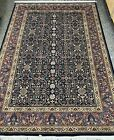 Super Fine Formal hand Knotted Moharamat Area Rug New Zealand Wool pile 6' x 9'