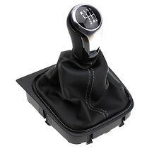 NEU Original Schaltknauf für VW Leder Golf 5 6 Jetta Scirocco Eos Schalter 6Gang