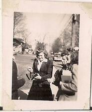 Laughing Young Girls Women Ready To Fork Out Money From Billfold Vtg 1940s Photo