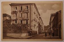 Cartolina Salerno Via Nizza Animata Postcard