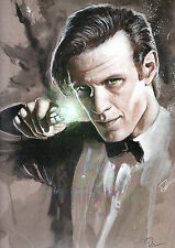 MATT SMITH / DOCTOR WHO Print HAND SIGNED by ROB PRIOR