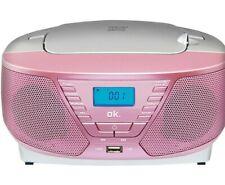 OK. ORC 311-PK RADIO RECORDER CD MP3 rosa OVP
