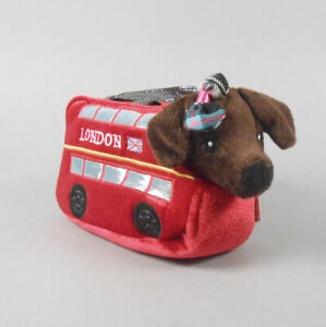 Aurora Fancy Pals Pet Carrier Roxie the Doxie Double Decker Bus Plush Animal Toy