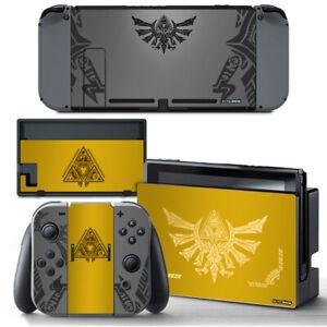 The Legend of Zelda Yellow Gold SKIN Screen Protector Nintendo Switch Joy-Con