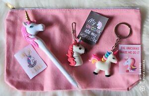Unicorn Pencil Case Bundle Gift Set Girls Pencil Case Gift Set Unicorn Gift Set