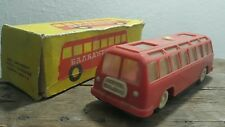 VINTAGE BUS 1970 TOY FRICTION TOURIST METAL HARD PLASTIC BULGARIA SOVIET ERA
