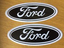 FORD Badge Logo Large Size Emblem Badge X 2 BLACK Graphic Mk 2 focus, C S max