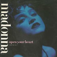 "MADONNA ""OPEN YOUR HEART/LUCKY STAR"" 7"" SIRE 1986 EX UK PRESS"