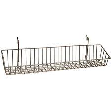 Basket fits Slat,Grid,Pegboard in Chrome 23 W x 4 D x 3 H Inches