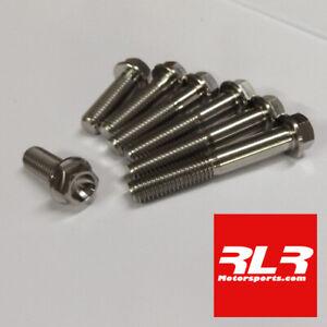 M8 Titanium Hex Head Flange Bolt  M8x30mm 1.25 thread pitch