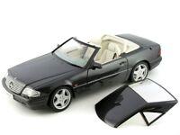 RARE MERCEDES SL 600 R129 FACELIFT 1995-2001 BLACK 1:18 AUTOART (DEALER MODEL)