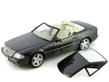 RARE MERCEDES SL 600 R129 FACELIFT 1995-2001 BLACK 1:18 AUTOART (DEALER MODEL)