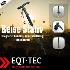 EQT-TEC Spazierstock Einbeinstativ 141 cm faltbar Reise Stativ Einbein Kamera