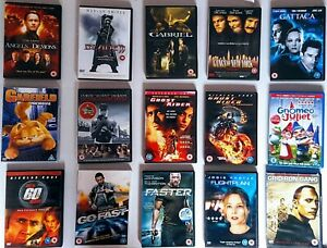 Pre-owned DVDs in good working condition-various titles