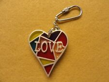 A Colorful Heart LOVE      Keychain