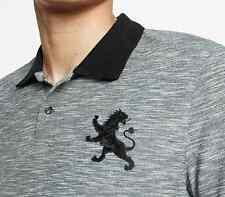 NWT【 L 】Express Men's Large Lion Logo Slub Oxford Pique Polo Shirt
