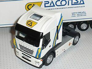 Camion Remorque Frigorifique IXO ALTAYA IVECO STRALIS PACONSA 1/43 Model Truck