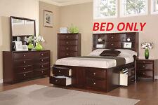 Storage Platform Cal king Bed Espresso Finish 1pc Bedroom Furniture Drawers HB