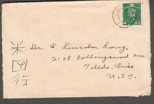 Japan 1938? cover to Toledo OH