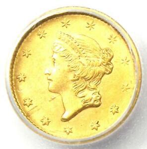 1852 Liberty Gold Dollar Coin G$1 - Certified ICG MS61 (BU UNC) - Rare Coin!