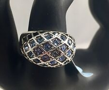Brighton LIFE'S JOURNEY Blue Swarovski Crystal Dome Ring Size 8** (see note) NWT