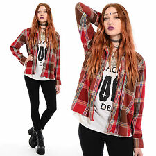 Vtg 90s GRUNGE Plaid Revival Oversize Boyfriend Seattle FLANNEL Shirt Jacket Top