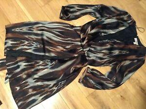Designer Clements Ribeiro Ladies Animal Print Shift Dress Size S