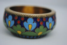 Russian sterling silver and enamel salts