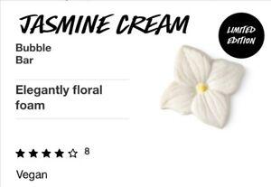 Lush Jasmine Cream Bubble Bar, limited edition. Jasmine and ylang ylang...